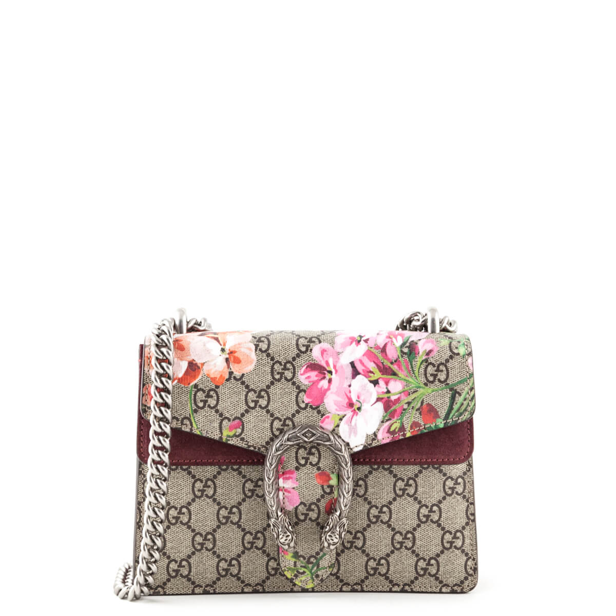 7e7517ec6076 Gucci Pink Suede and Canvas GG Blooms Mini Dionysus - LOVE that BAG -  Preowned Authentic ...