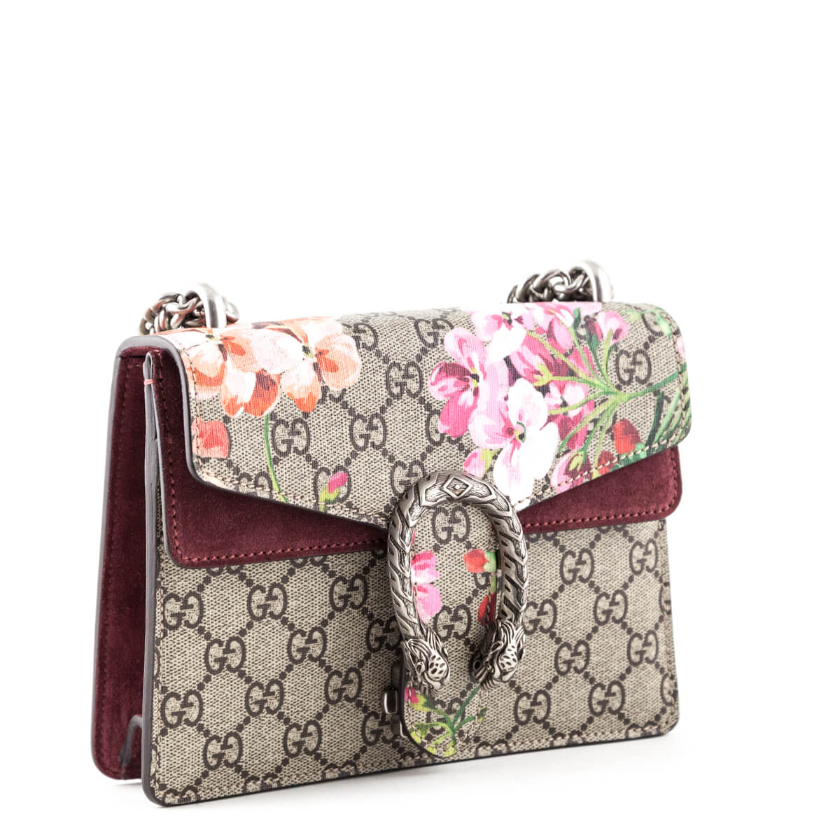 5260d8e38c8d ... Gucci Pink Suede and Canvas GG Blooms Mini Dionysus - LOVE that BAG -  Preowned Authentic ...