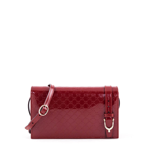 59a3817d2824 Gucci Red Patent Micro Guccissima Nice Wallet on Chain - LOVE that BAG -  Preowned Authentic