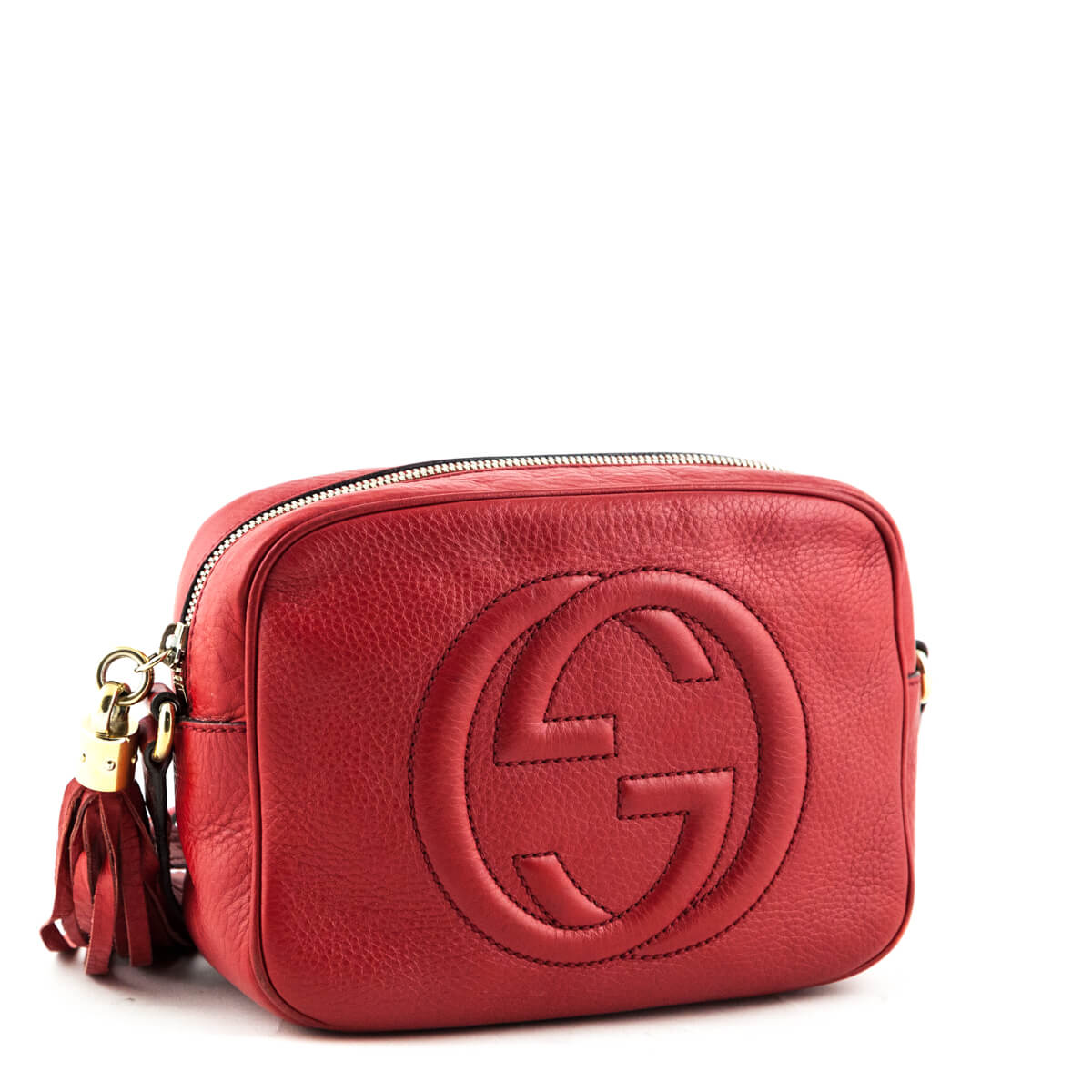 1aac97d470a4 ... Gucci Red Soho Disco - LOVE that BAG - Preowned Authentic Designer  Handbags ...