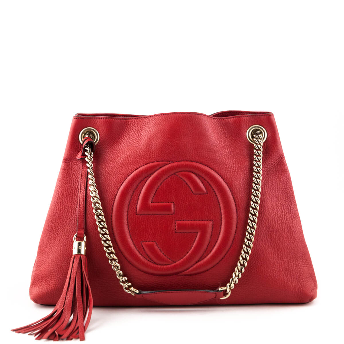 6917e6a8a0035 Gucci Red Soho Shoulder Bag - LOVE that BAG - Preowned Authentic Designer  Handbags ...
