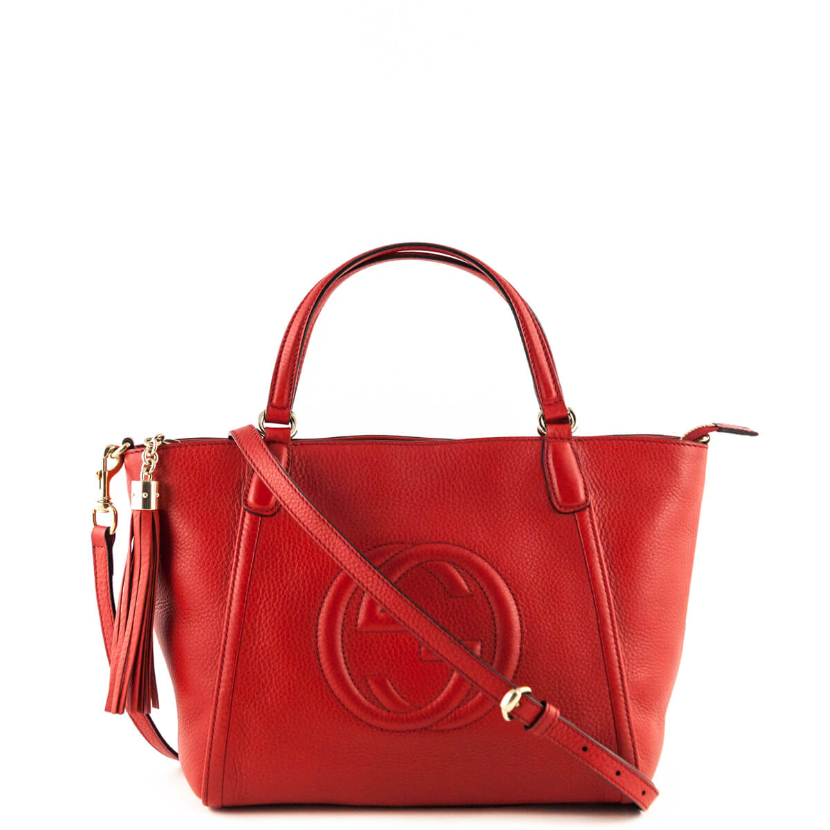 beca629168a Gucci Red Soho Top Handle Bag - LOVE that BAG - Preowned Authentic Designer  Handbags ...