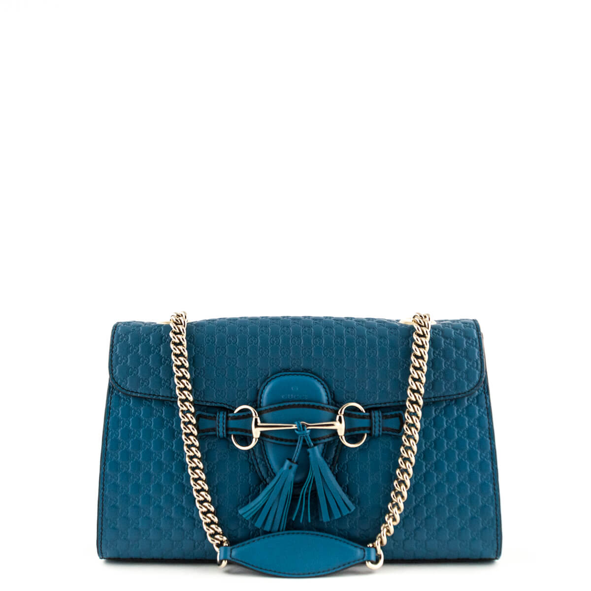 e2923008e8cd Gucci Peacock Blue Guccissima Emily Shoulder Bag - LOVE that BAG - Preowned  Authentic Designer Handbags ...