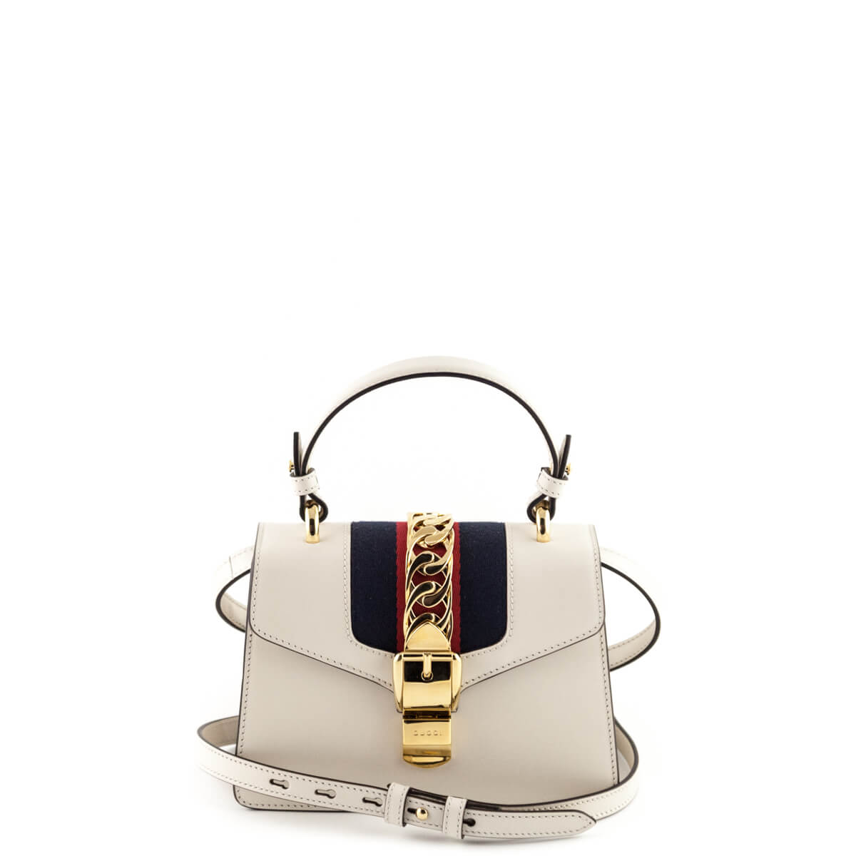 1a2d88d8920 Gucci White Mini Sylvie Bag - LOVE that BAG - Preowned Authentic Designer  Handbags ...