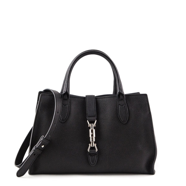 Gucci Black Soft Leather Small Jackie Top Handle Bag 7ed7a87149ddf