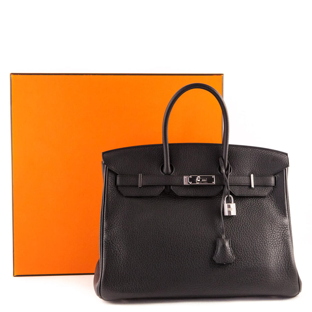 4a46a79d6c ... Hermes Anthracite Clemence Birkin 35 - LOVE that BAG - Preowned  Authentic Designer Handbags ...
