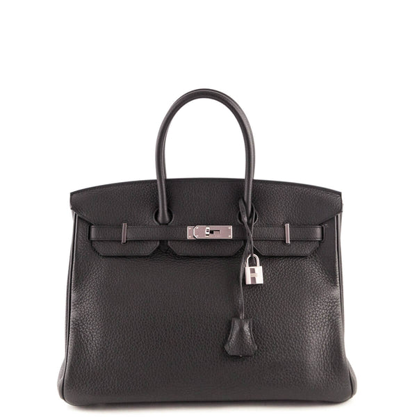Hermes Anthracite Clemence Birkin 35 - LOVE that BAG - Preowned Authentic  Designer Handbags 9fa247ffb7cb2