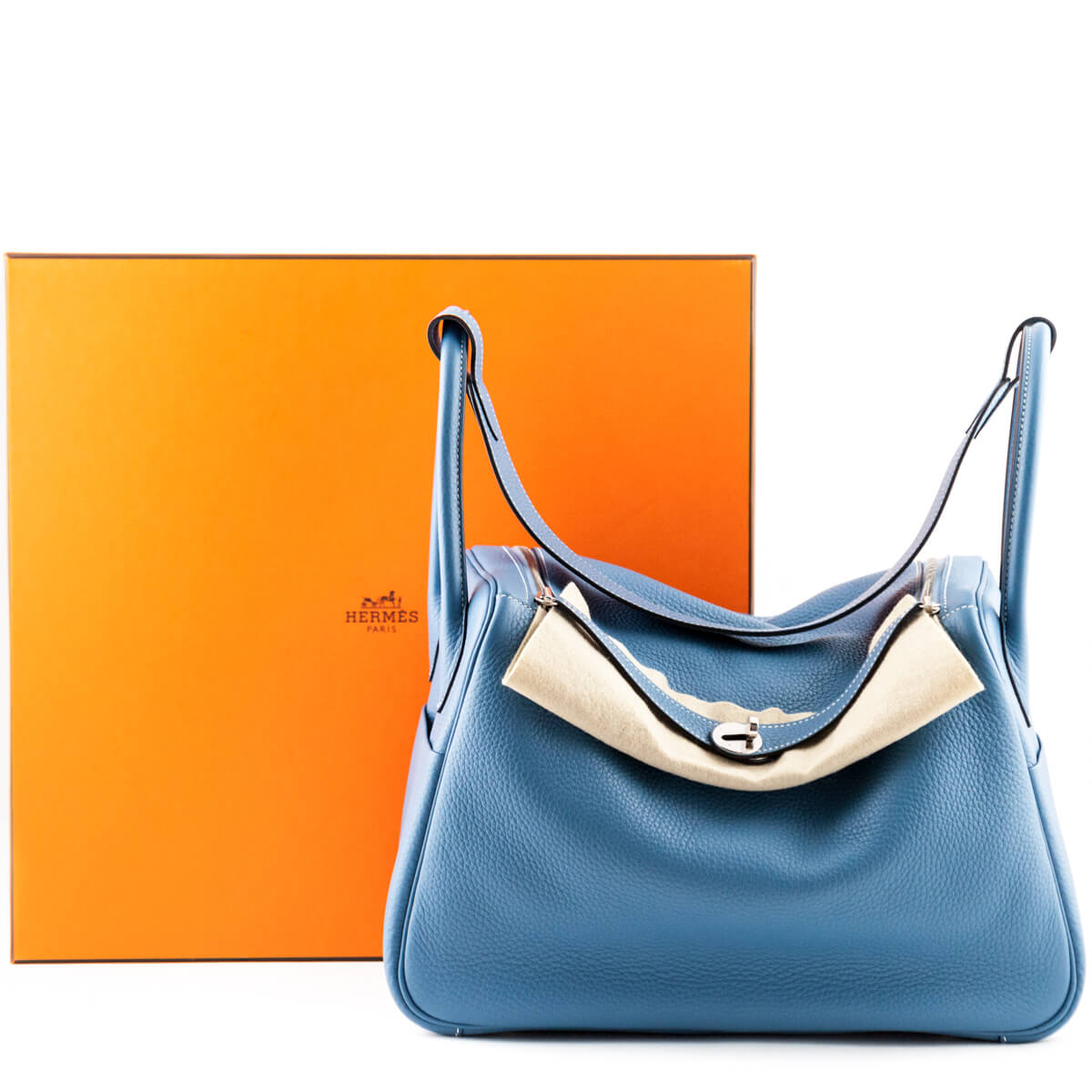 ... Hermes Blue Jeans Clemence Taurillon Lindy 34 - LOVE that BAG - Preowned  Authentic Designer Handbags ... 7665eb0dcd445