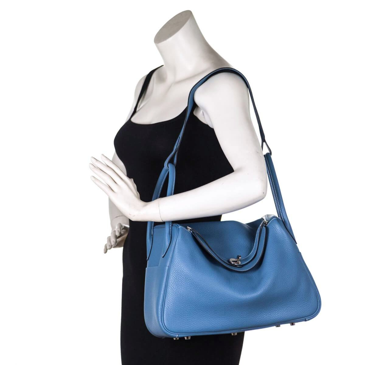 ... Hermes Blue Jeans Clemence Taurillon Lindy 34 - LOVE that BAG - Preowned  Authentic Designer Handbags 25d43d067f2fa