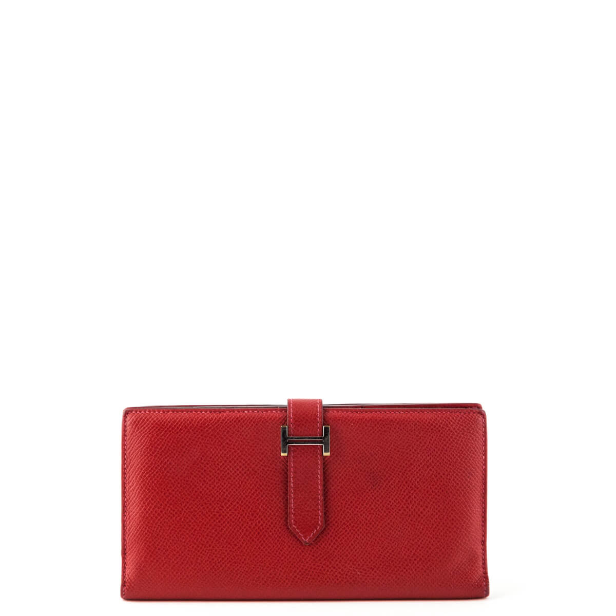 Hermes Red Epsom Bearn Wallet - LOVE that BAG - Preowned Authentic Designer  Handbags ... 26b3a6f0be502