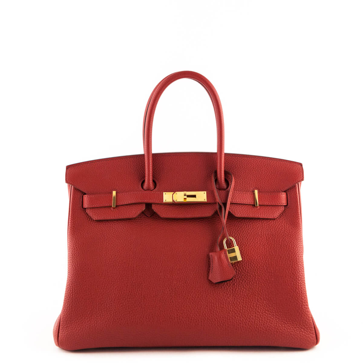 f3e2141a640 Hermes Red Togo Birkin 35 - LOVE that BAG - Preowned Authentic Designer  Handbags ...