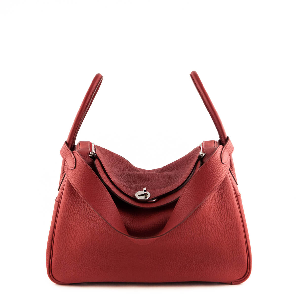 ffc58b8031937f Hermes Rouge Garance Clemence Lindy 34 - LOVE that BAG - Preowned Authentic  Designer Handbags ...