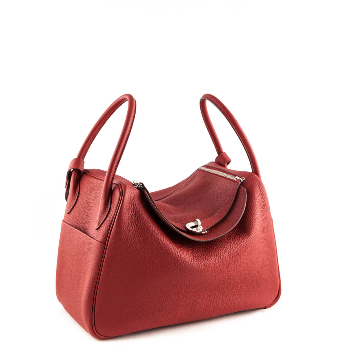 257e00257f0954 ... Hermes Rouge Garance Clemence Lindy 34 - LOVE that BAG - Preowned  Authentic Designer Handbags ...