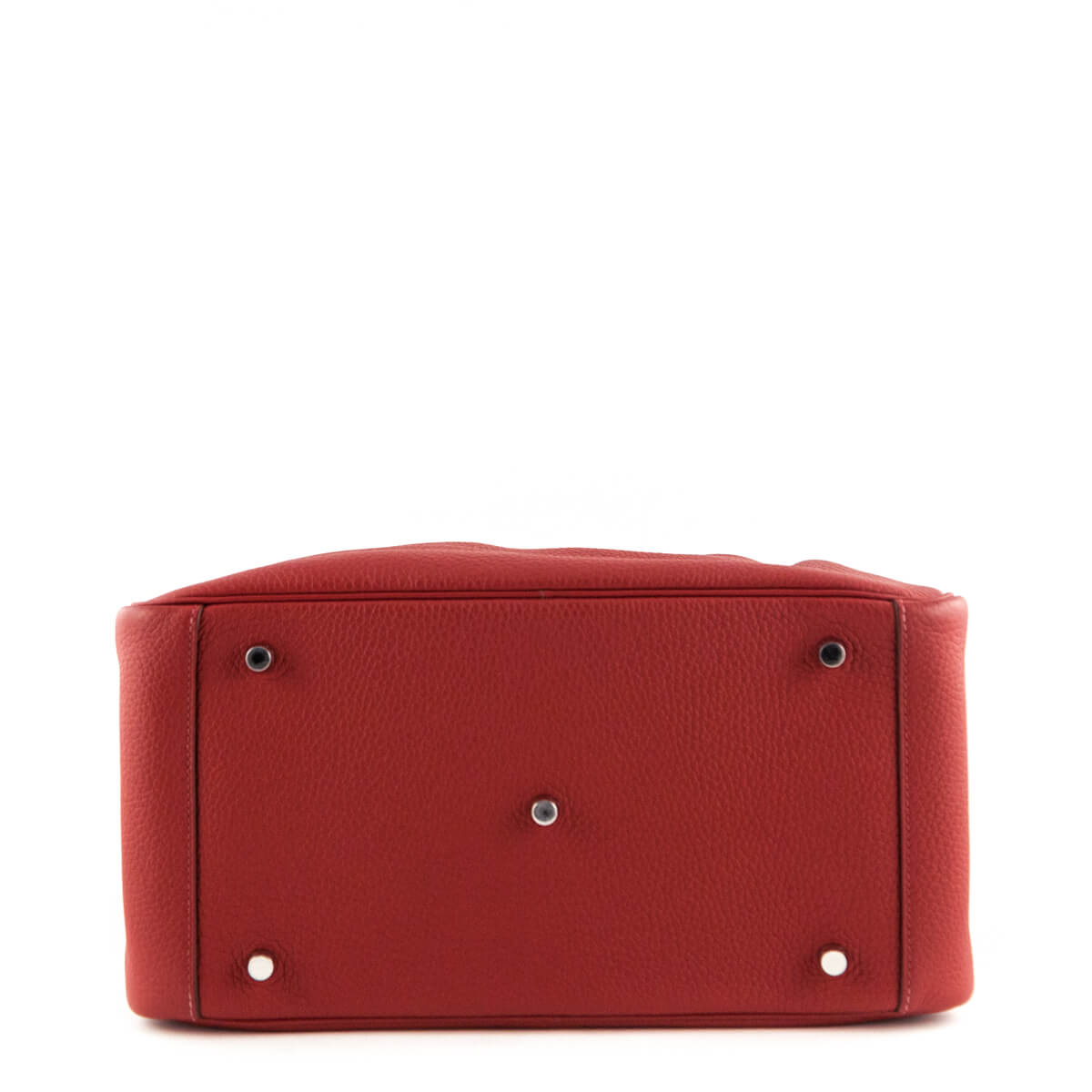 30baccde09e9df ... Hermes Rouge Garance Clemence Lindy 34 - LOVE that BAG - Preowned  Authentic Designer Handbags ...