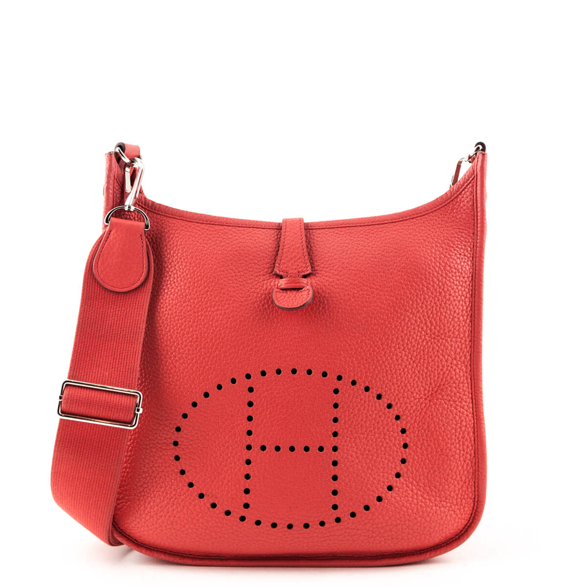 3ad910fbd2 Hermes Rouge Pivoine Clemence Evelyne III PM - LOVE that BAG - Preowned  Authentic Designer Handbags ...