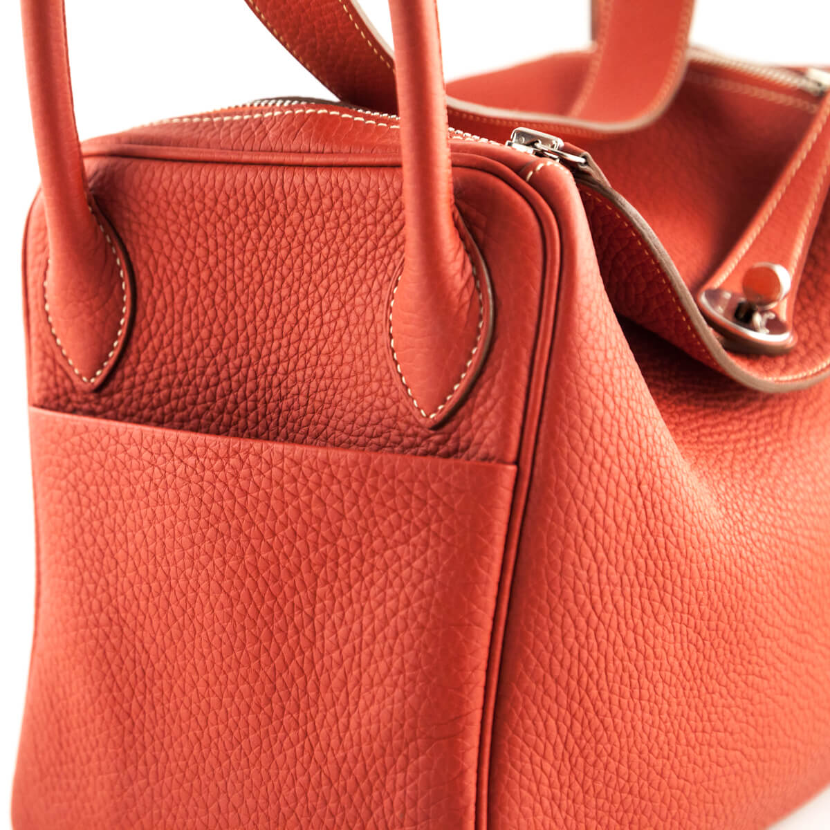 ... 50% off togo gold hardware hermes rouge pivoine clemence lindy 30 love  that bag preowned ... c0adc87745d90