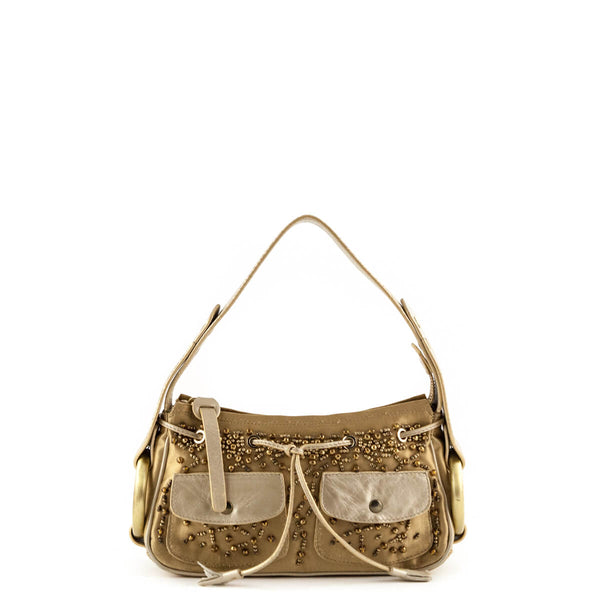c47c45c291e3 Hogan Gold Embellished Top Handle - LOVE that BAG - Preowned Authentic  Designer Handbags
