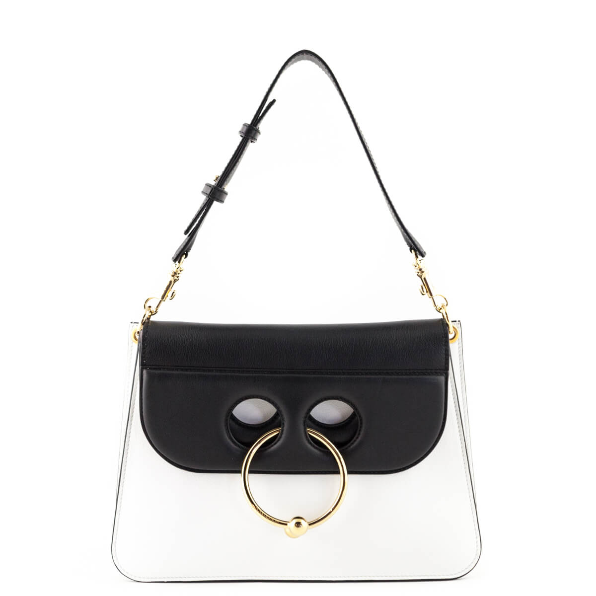 c00223c77acf JW Anderson Black   White Calfskin Medium Pierce bag - LOVE that BAG -  Preowned Authentic ...