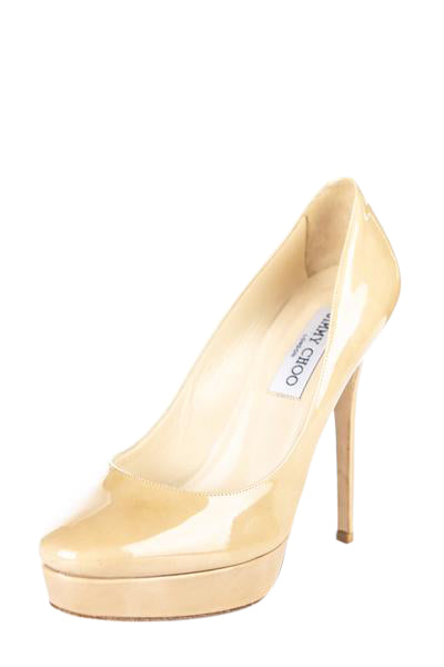 top design pick up special for shoe Jimmy Choo Beige Patent Platform Pumps - Shop Jimmy Choo Online CA