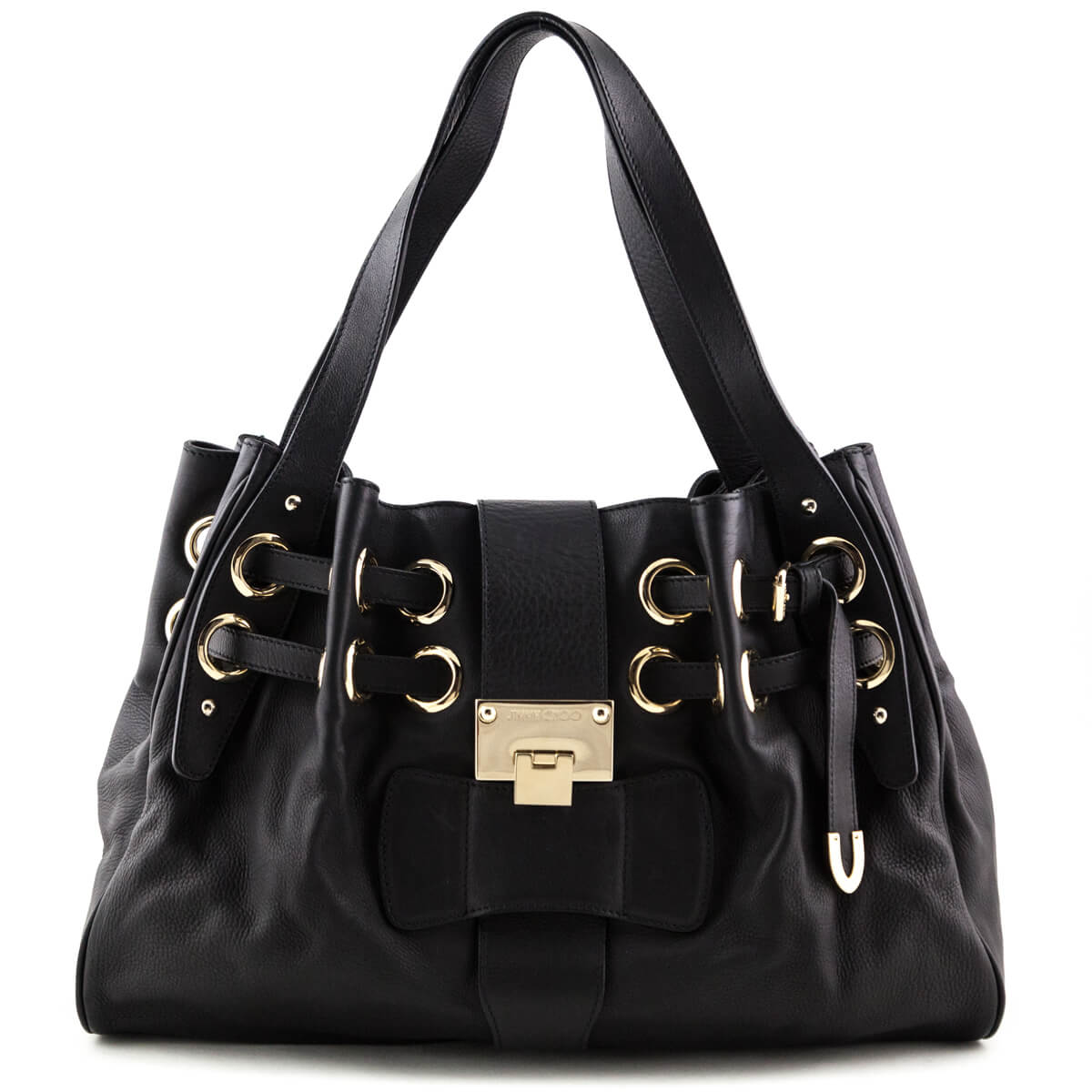 3467a09ee29 Jimmy Choo Black Ramona Shoulder Bag - LOVE that BAG - Preowned Authentic Designer  Handbags ...