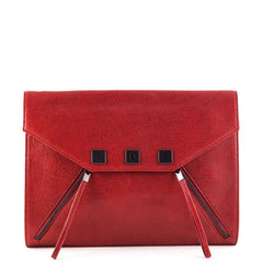 Karl Lagerfeld Red K Zip Clutch - 1