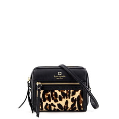 Kate Spade Looloo Perri Lane Leather and Leopard Print Calf Hair - 1