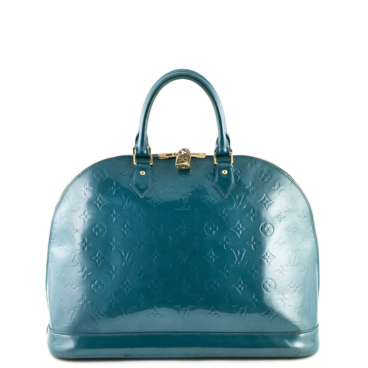 d5d1c03c9757 Louis Vuitton Turquoise Empreinte Vernis Alma GM Handbag - LOVE that BAG -  Preowned Authentic Designer ...