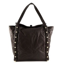 Lanvin Brown Quilted Tote - 1