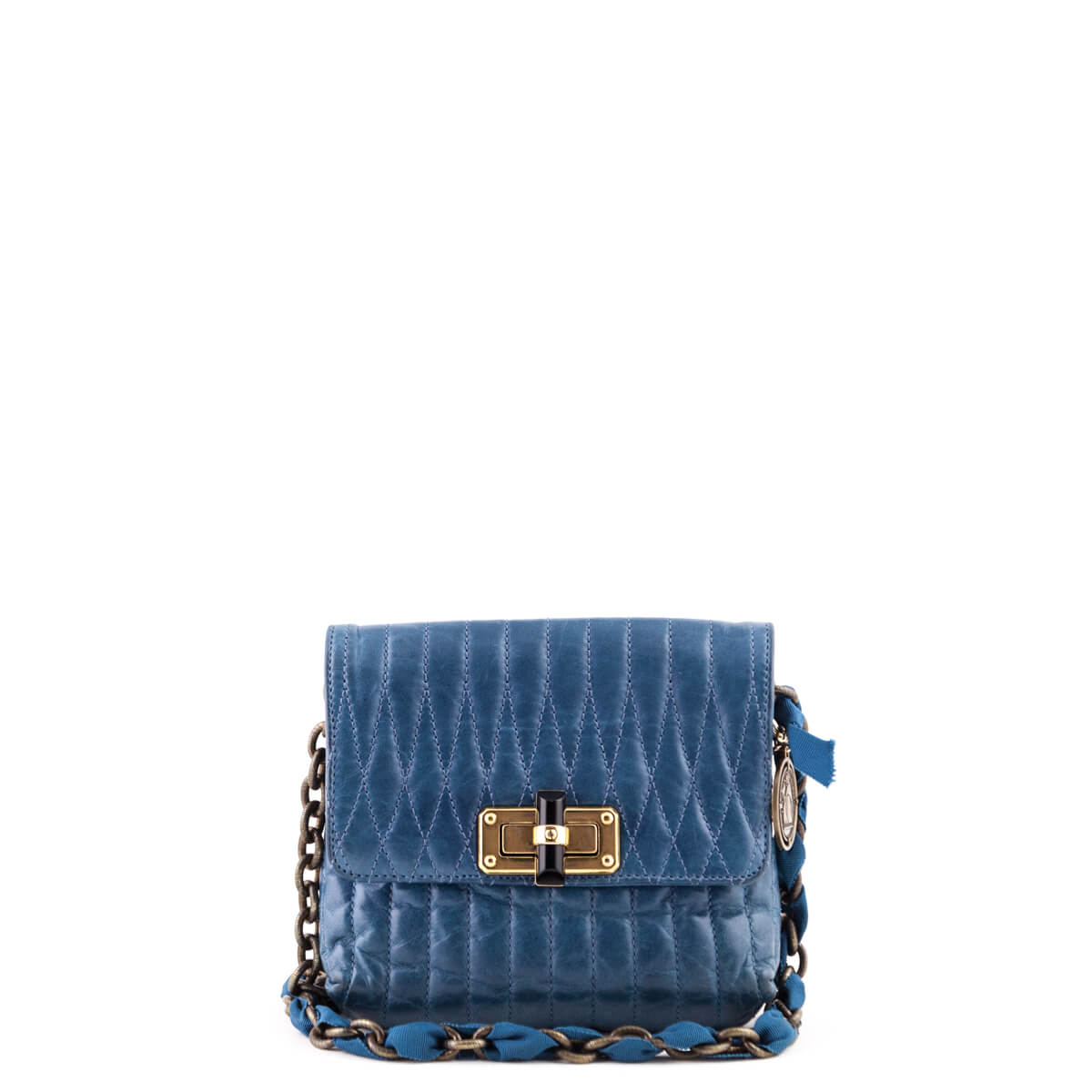 e7748e94911b Lanvin Teal Quilted Lambskin Mini Pop Happy Crossbody - LOVE that BAG -  Preowned Authentic Designer ...