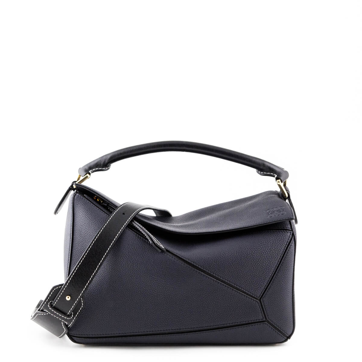 f861761a3 Loewe Midnight Blue Calfskin Medium Puzzle Bag - LOVE that BAG - Preowned  Authentic Designer Handbags ...