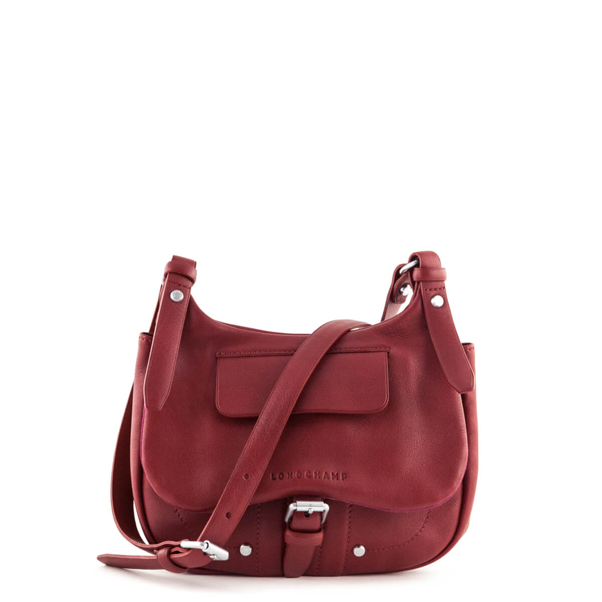 c955377eabff Longchamp Carmine Leather Small Balzane Crossbody Bag - LOVE that BAG -  Preowned Authentic Designer Handbags ...