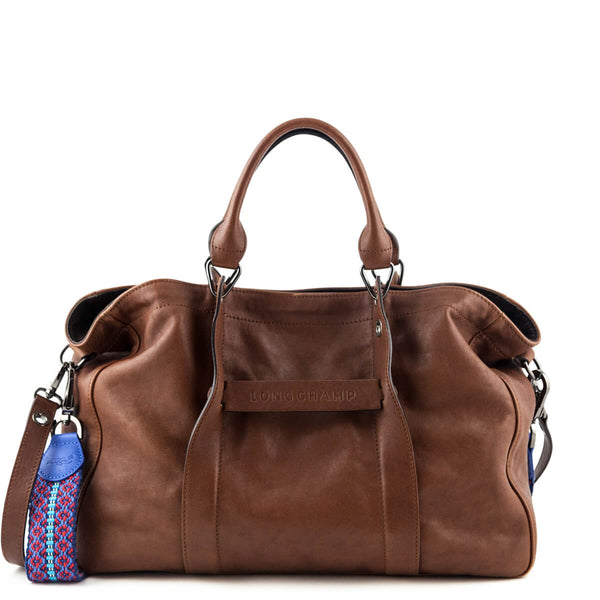 591589ad8286 Longchamp Cognac Calfskin Large 3D Tote - LOVE that BAG - Preowned Authentic  Designer Handbags