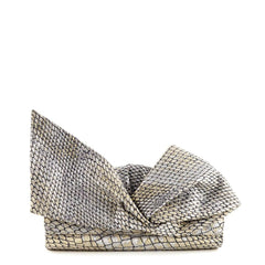 Louboutin Metallic Bow Clutch - 1