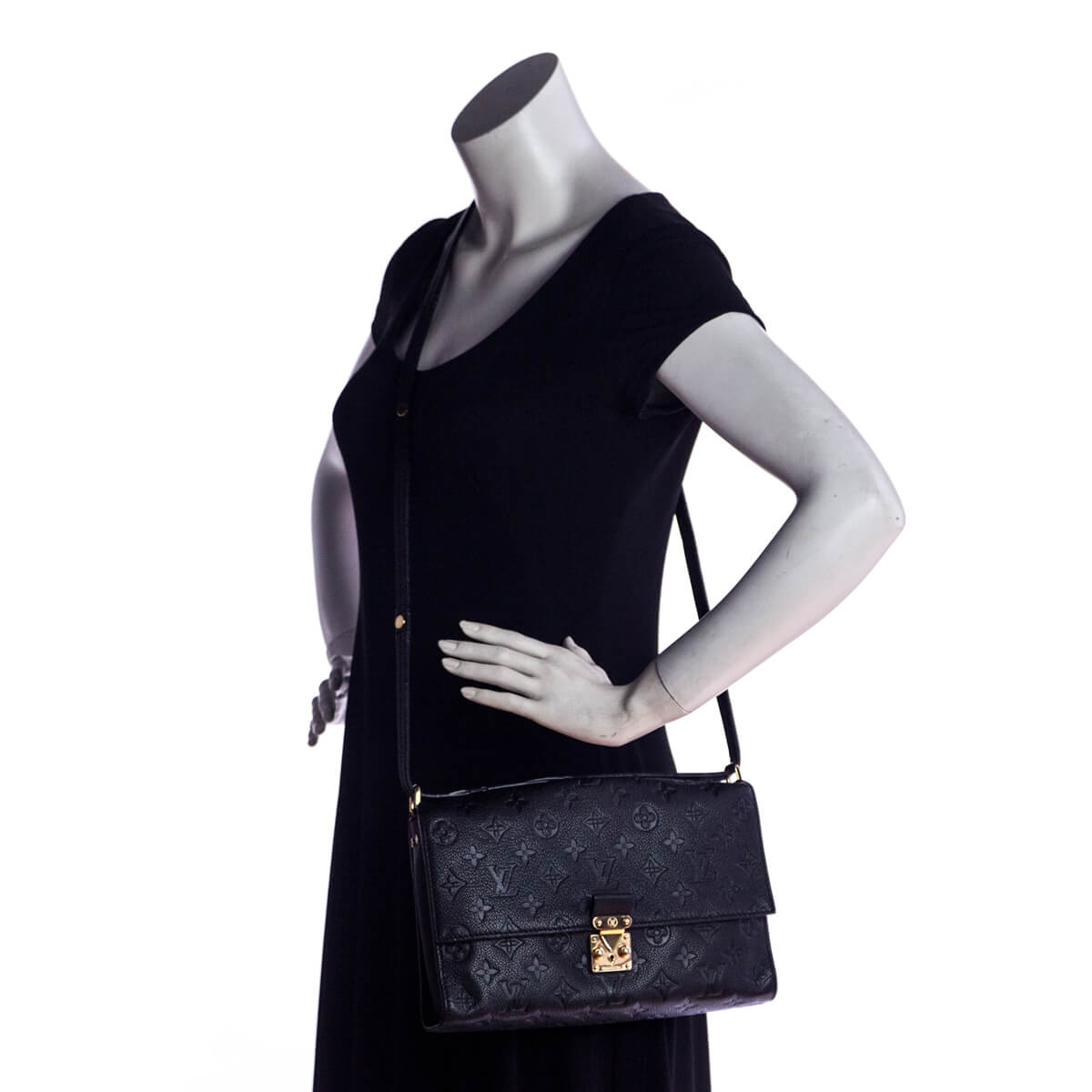 ... Louis Vuitton Black Empreinte Fascinante Bag - LOVE that BAG - Preowned  Authentic Designer Handbags a56429da36891