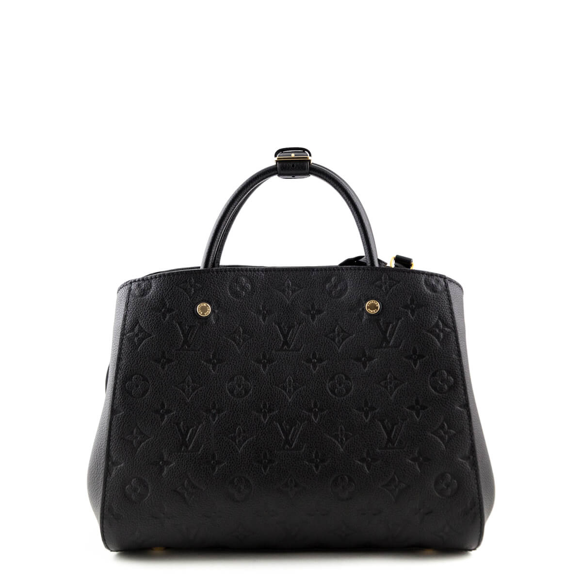 1fd16653c4312 ... Louis Vuitton Black Monogram Empreinte Montaigne MM - LOVE that BAG -  Preowned Authentic Designer Handbags ...