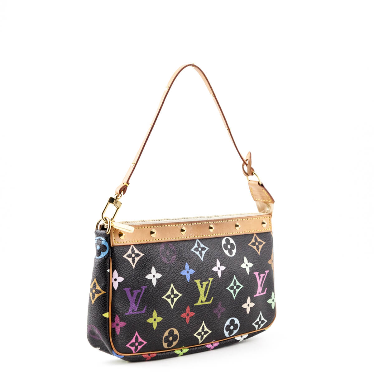 3069f4a21271 ... Louis Vuitton Black Monogram Multicolor Pochette - LOVE that BAG -  Preowned Authentic Designer Handbags ...