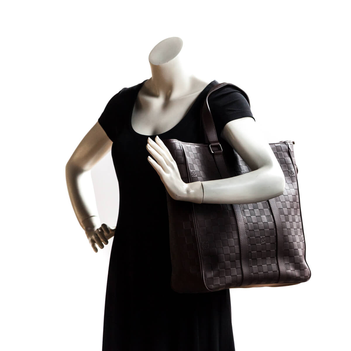 a5620b98c96c ... Louis Vuitton Brown Infini Tadao MM - LOVE that BAG - Preowned  Authentic Designer Handbags