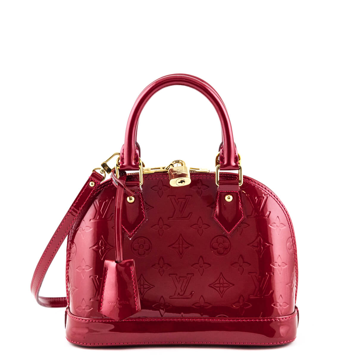 8c0c41a58a23 Louis Vuitton Cerise Empreinte Vernis Alma BB - LOVE that BAG - Preowned  Authentic Designer Handbags ...