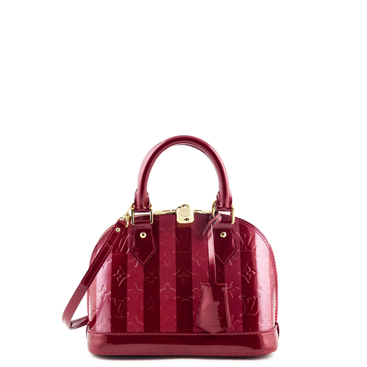 ecb3ccb52623 Louis Vuitton Cherry Monogram Vernis Rayures Alma BB - LOVE that BAG -  Preowned Authentic Designer ...