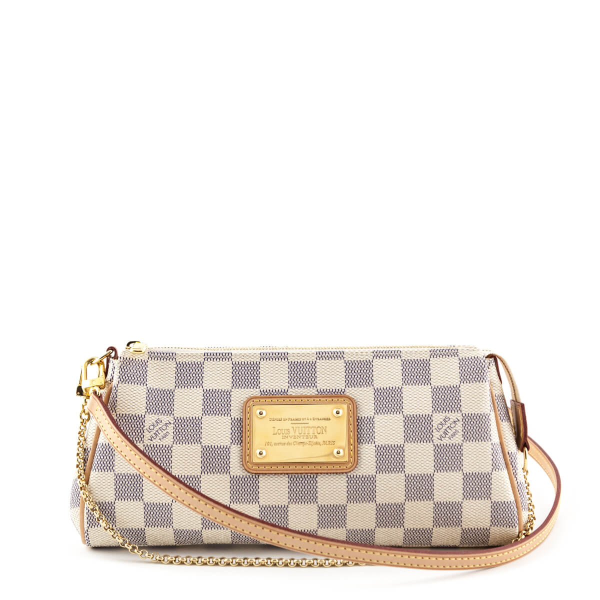 621011136 Louis Vuitton Damier Azur Eva Clutch - LOVE that BAG - Preowned Authentic  Designer Handbags ...