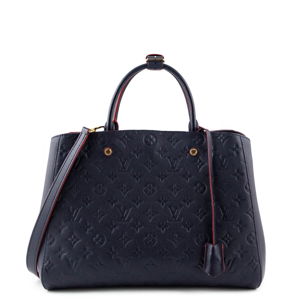 Louis Vuitton Marine Rouge Monogram Empreinte Montaigne GM - LOVE that BAG  - Preowned Authentic Designer ... 38ba9cba96749