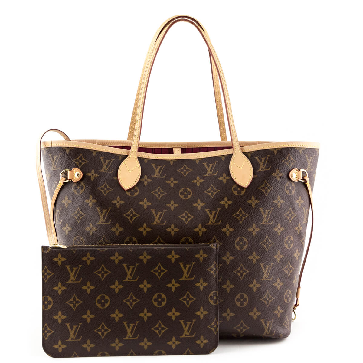 Louis Vuitton Monogram Neverfull MM with Pouch - LOVE that BAG - Preowned  Authentic Designer Handbags ... a1ebadd836b5a