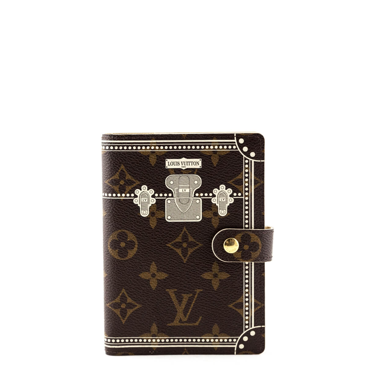 7aa617285 Louis Vuitton Monogram White Trunk Small Ring Agenda Cover - LOVE that BAG  - Preowned Authentic ...