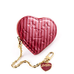 Louis Vuitton Pomme D'Amour Vernis Rayures Heart Coin Purse - 1