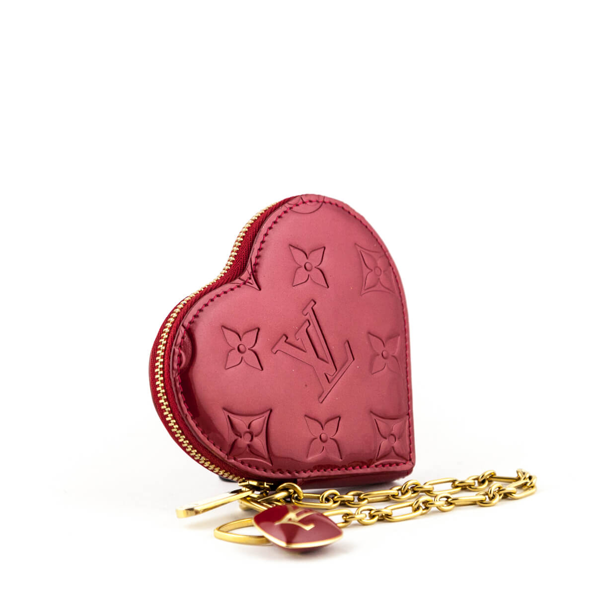 115a937ff ... Louis Vuitton Pomme d'Amour Empreinte Vernis Heart Coin Purse - LOVE  that BAG ...