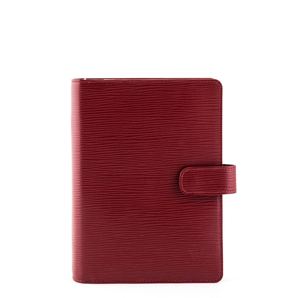 c4245a2dd97b6 Louis Vuitton Rouge Pomodoro Epi Medium Ring Agenda Cover