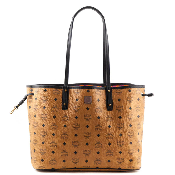 85c582452067 MCM Visetos Medium Reversible Shopper Tote with Pouch - LOVE that BAG - Preowned  Authentic Designer