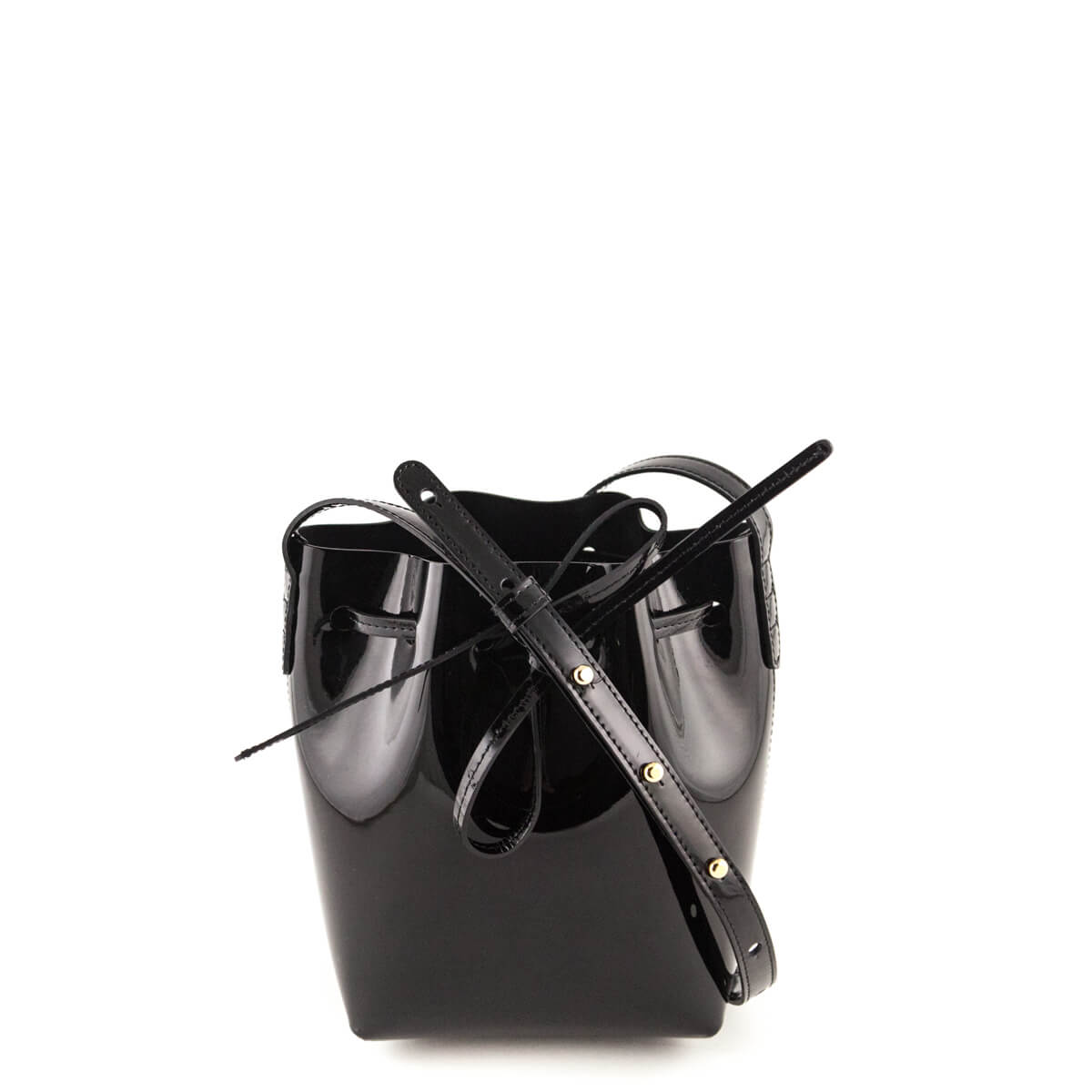 Mansur Gavriel Black Patent Mini Mini Bucket bag - LOVE that BAG - Preowned  Authentic Designer ...