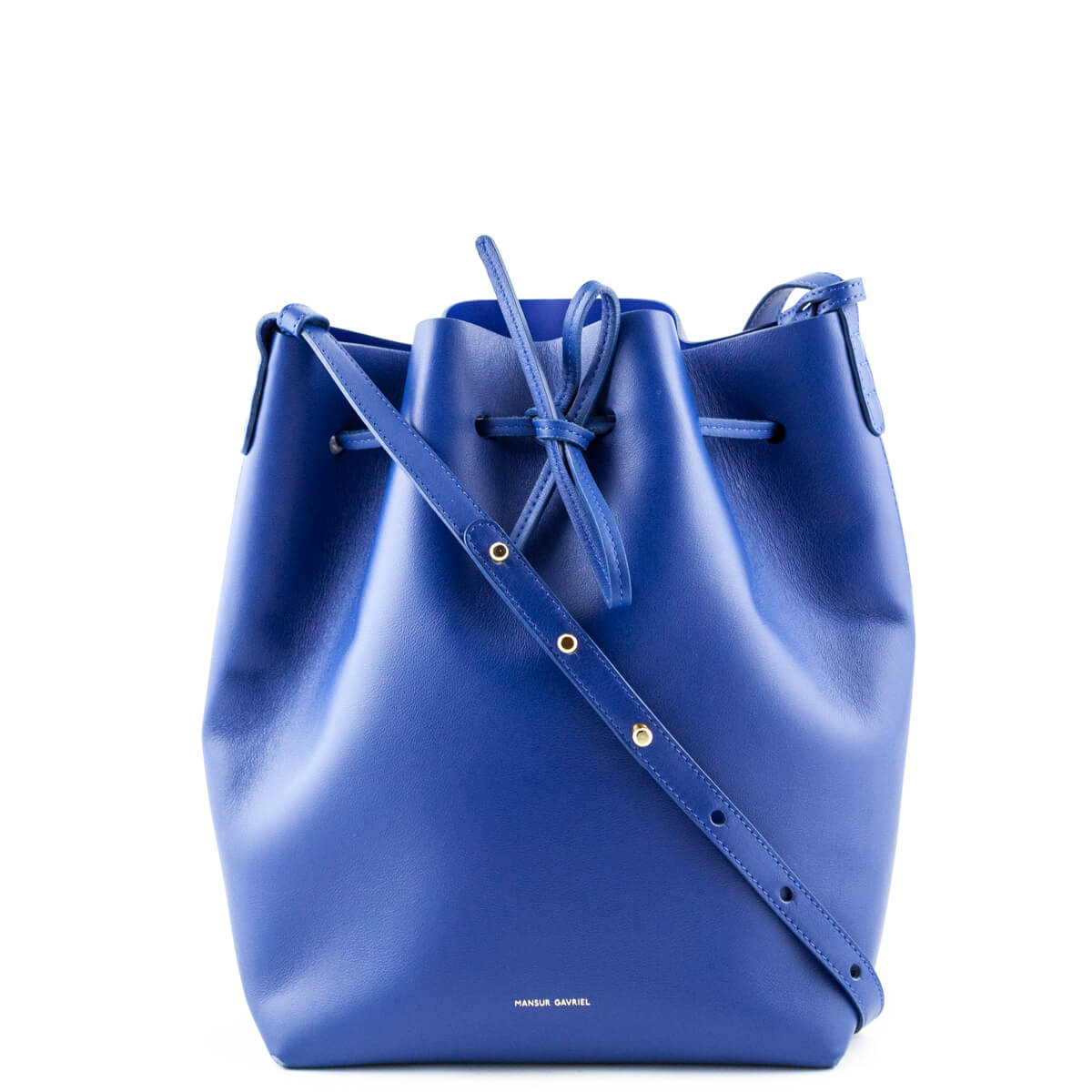 be288568be5e4 Mansur Gavriel Royal Blue Calfskin Bucket Bag - LOVE that BAG - Preowned  Authentic Designer Handbags ...