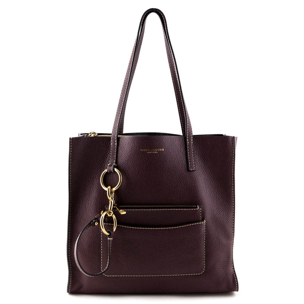 8b58d0a5c Marc Jacobs Blackberry Leather Bold Grind Shopper Tote - Designer Bags